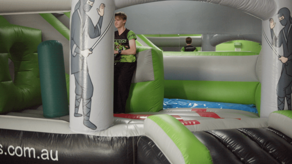 Party venue with jumping castle